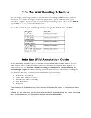 Into the wild Reading schedule.docx