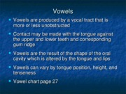 Vowel Overview