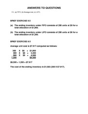 Student Homework  Solutions Ch 6 Day 2