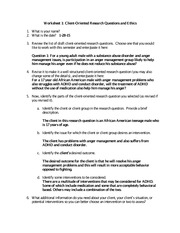 Child Research Ethics Worksheet Example