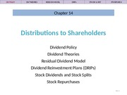 Ch 14 Lecture Slides, Distributions to Shareholders
