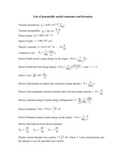 Constants Study Guide
