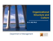 5. Class Slides - Organizational Structure and Culture