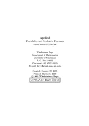 Applied Probability and Stochastic Processes - Bryc