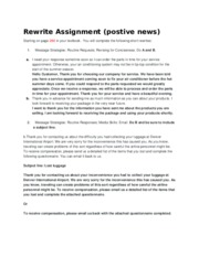 Rewrite Assignment (postive news)