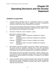 Chapter 03: Operating Decisions and the Income Statement