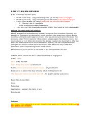 LAW101 EXAM REVIEW - SEP.docx