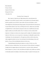 narrative portfolio essay