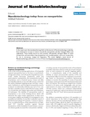Nanobiotechnology today focus on nanoparticles