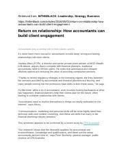 Return on Relationship-How Accountants Can Build Client Engagement-In the Black.docx