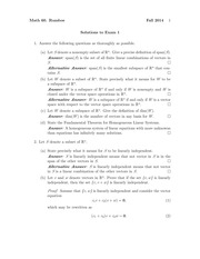 MATH 60 Fall 2014 Midterm 1 Solutions