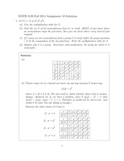 MATH 3120 Fall 2014 Assignment 10 Solutions
