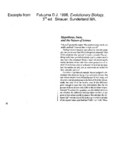 BIOL202 - Study Guide - Lecture 22 - Supplemental Reading - Futuyma 1998