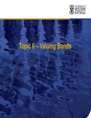 Chapter06 Valuing Bonds