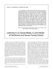 Journal of Marketing - Listening In on Social Media - A Joint Model