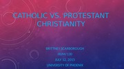 wk6 Protestant vs Catholic