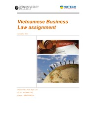 Assignment - Vietnamese Business Law (Lam Pham)
