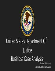 UNIT FOUR – DEPARTMENT OF OF JUSTICE