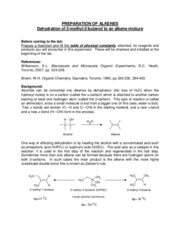Dehydration of 2-Methel-2-Butanol to an Alkene Mixture