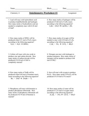 Stoichiometry Worksheet - 9 Iron will react with oxygen to produce ...