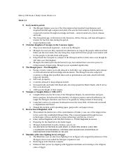 History 100 Exam 1 Study Guide