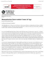 Humanitarian Intervention Comes of Age.pdf
