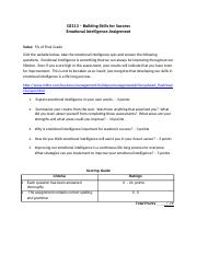 2. Emotional intelligence assignment.rtf