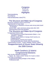 Lecture 11 Congress