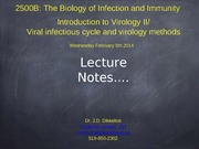 Lecture 8 Virology Lecture 2