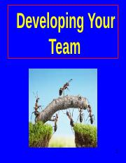 Developing Your Team
