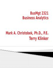 BusMgt 2321 Course Slides 3 - Linear Solutions.pptx