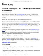 Harvard Mapping My DNA Turns Scary as Threatening Gene Emerges - Bloomberg.pdf