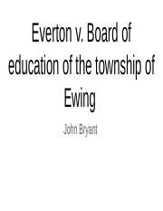 Everson v. Board of education of the township of ewing .pptx