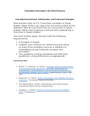 Competitive Advantage in the Global Economy-paper 1.docx