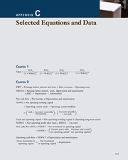 Appendix C; Selected Equations and Data - Corporate Finance; A Focused Approach (4th Edition)