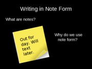 writing_in_note_form
