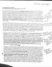 Death of the author notes