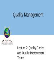 Lec2 QualityCirclesandQualityImprovementTeams.ppt