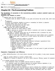 MACROECON Chapter 02 - The Economizing Problem