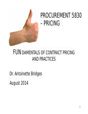 PROC5830 Pricing  - Oct 7 2014
