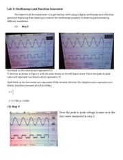 Lab3-Oscilloscope Lab Report