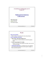 Lecture Notes on Mathematical Induction