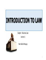 82491_Topic 1 - INTRODUCTION TO LAW (Lecture 1).pdf