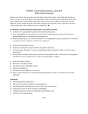 ENVS 283 mid term study guide