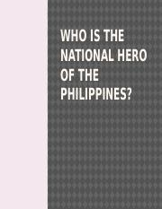 Who is the National Hero of the  philippines ulit