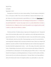 English Reflective Essay Example  Pages Essay B Final Final Final Draft Of Ethan Fromedoc Health Needs Assessment Essay also English Debate Essay In The Beginning Of The Novel He Looks At The Narrators Book And  Sample Of English Essay