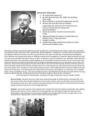 Heinrich Himmler One Pager