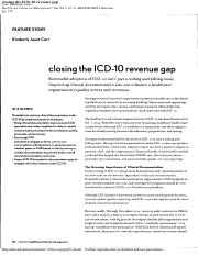 Closing the ICD10 Revenue Gaps