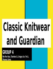Classic Knitwear and Guardian