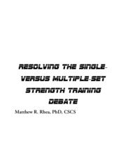Single_vs_Multiple_Sets_Discussion